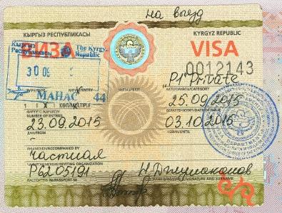 Kyrgyz - Visa