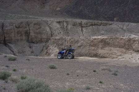 Pamir Mountains - Meteor crater at 3.790 meters above sea level