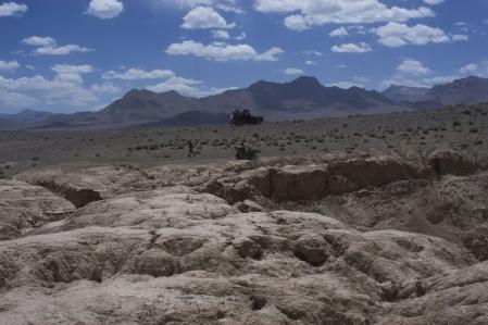 Pamir - Meteor crater auf 3.690 m