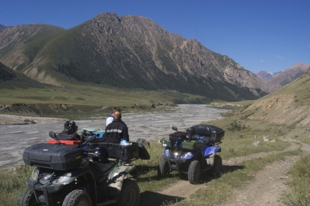 Quad offroad Adventure Tour through the high Tian Shan mountains