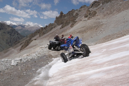 Quad offroad Tour to Chong Kemin Nationalpark and in the Konortchok Canyon