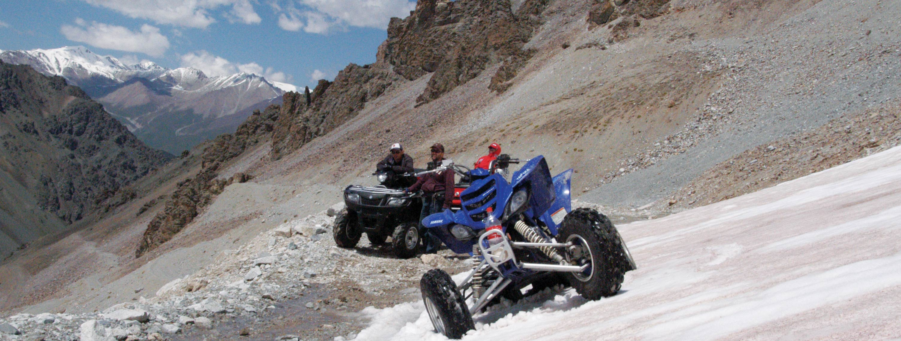 Off-road Quad tour - Motorbike tour through the high mountains Tian-Shan