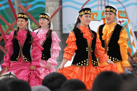 Kyrgyzstan - Traditional fashion costumes