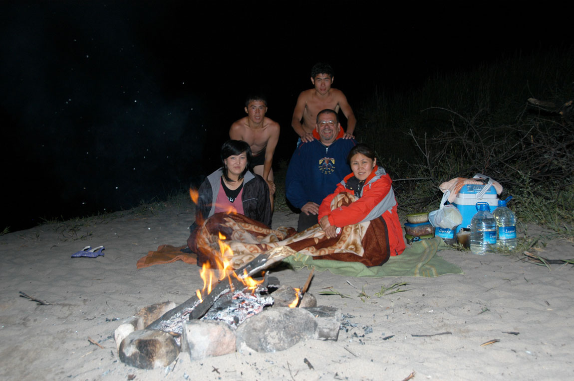 Issyk-Kul - lake - beach - campfire