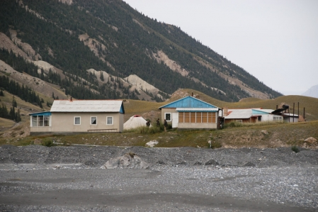 Engilchek - Glacier - River - Village